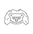 hedgehog head line icon sign vector image vector image