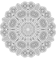 Intricate geometric pattern on white background vector image vector image