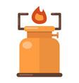 kerosene lamp icon flat style vector image vector image