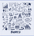 lot of business templates vector image vector image