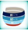 Modern ribbon business banner template vector image vector image