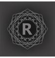 Monogram R vector image vector image
