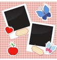 Photos stickers tags with tape vector image vector image