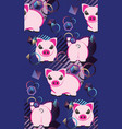 pig pattern design vector image