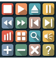 Player interface flat icons vector image vector image