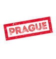 Prague rubber stamp vector image