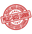 project-based learning red grunge stamp vector image vector image