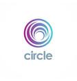 round circle logo vector image vector image
