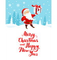 santa holiday cartoons vector image vector image