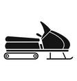 santa snowmobile icon simple style vector image vector image