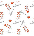 seamless love pattern heart decorative background vector image