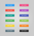 set of colored buttons web elements vector image