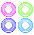 set of colorful swim rings inflatable rubber vector image