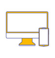 set of technologies digital responsive gadgets vector image vector image