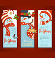 set of vertical christmas banners with cute vector image vector image