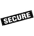 square grunge black secure stamp vector image vector image