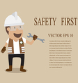 Technician full with Personal Protection Equipment vector image vector image