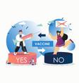vaccination debate flat style design vector image