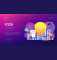 vision statement concept landing page vector image vector image