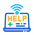 web medicine help icon outline vector image vector image