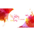 white circle and red tone watercolor background vector image vector image