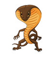 with a cobra humanoid creature vector image