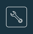wrench icon line symbol premium quality isolated vector image vector image