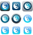 Ying yang blue app icons vector | Price: 1 Credit (USD $1)