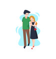 young couple in love spends time on a date vector image vector image