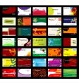various business cards vector image