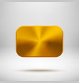 Gold Abstract Square Button Template vector image