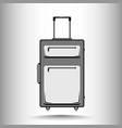 a suitcase for traveling in black and white tones vector image