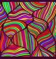 abstract doodle style pattern rainbow color vector image
