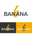 Banana logo letter b logo logo template