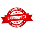 bankruptcy ribbon bankruptcy round red sign vector image vector image