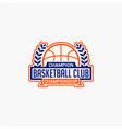 basketball club badge logo-9 vector image vector image