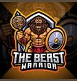 beast warrior esport mascot logo design