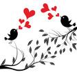 bird with love a birds vector image