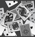 black and white playing cards background vector image vector image