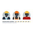 Black man side view construction worker labor vector image