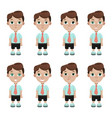 boy student emotions vector image vector image
