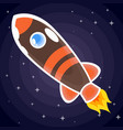 brown with orange stripes a space rocket with a vector image vector image