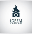 camera flame icon for web and ui on white vector image