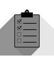 checklist sign black icon vector image vector image