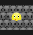 cheerful positive and sad emoticons on dark vector image