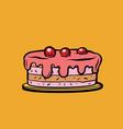 cherry berry cake vector image