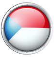 chile flag design on round badge vector image vector image