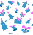 Christmas seamless background Blue and purple vector image vector image