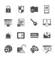 Computer security icons set black vector image vector image