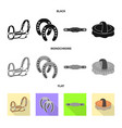 design of equipment and riding symbol set vector image vector image